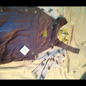 NWT boys 24 months bear corduroy overalls
